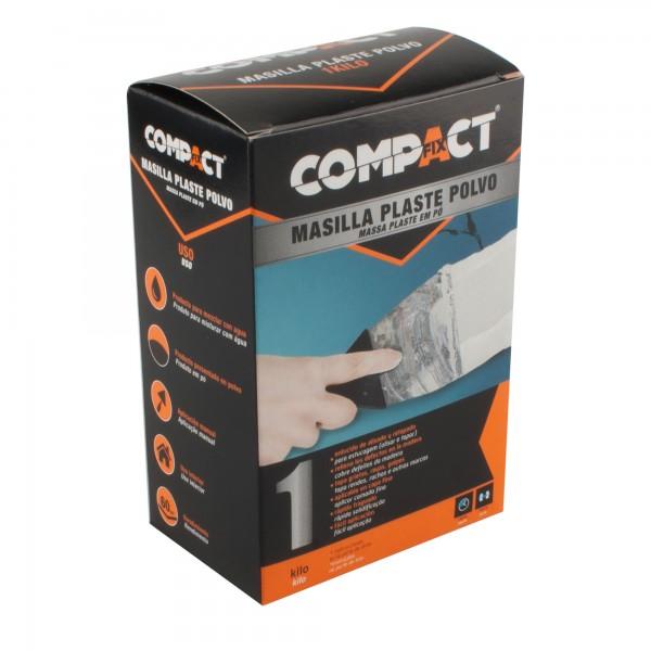 Masilla  plaste polvo compact 1 kg.