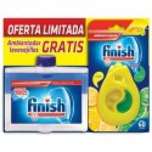 Finish lavavajillas limpia maquinas 250ml + ambientador limon