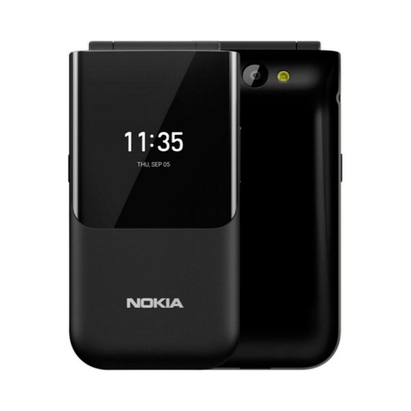 Nokia 2720 flip negro móvil plegable 4g dual sim 2.8'' qvga 4gb wifi gps bluetooth cámara 2mp