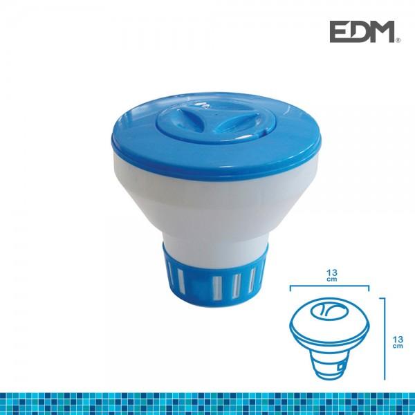 Dispensador de quimicos flotante pequeño especial granulado o pastillas 13x13cm