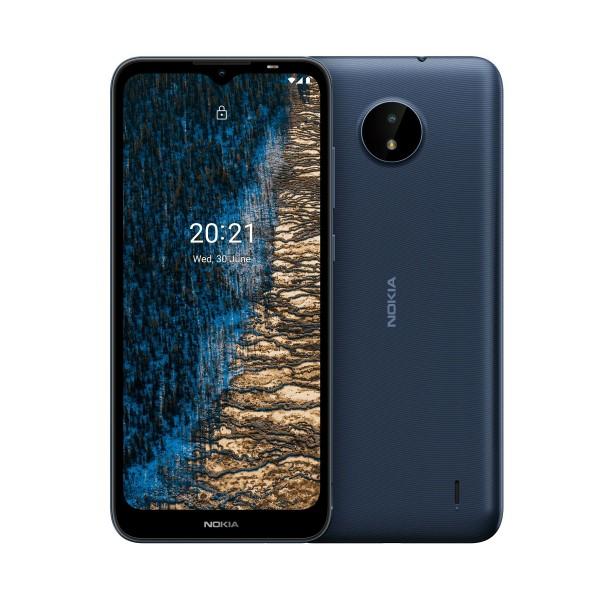 Nokia c20 azul oscuro/móvil 4g/dual sim/ 6.5'' hd+/ 8-core 1.6ghz/ 32gb/2gb ram/cam 5mp + 5mp