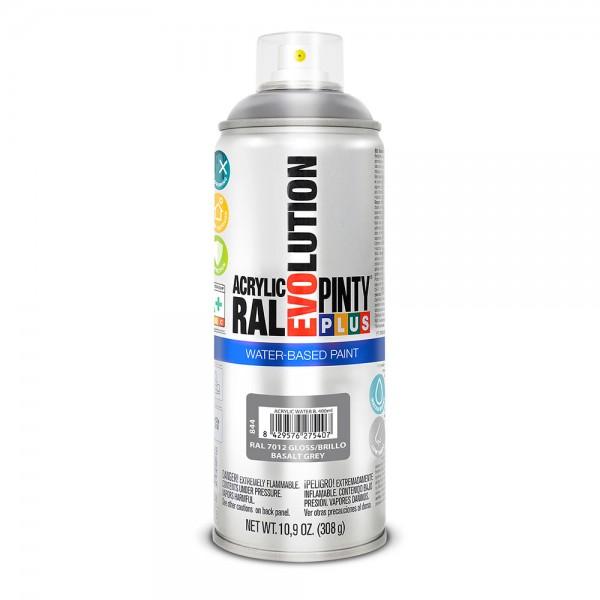 Pintura en spray pintyplus evolution water-based 520cc ral 7012 gris basalto